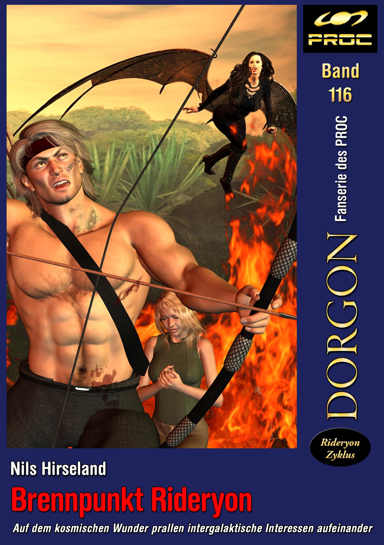 Cover zu DORGON 116 - Brennpunkt Rideryon © Gaby Hylla