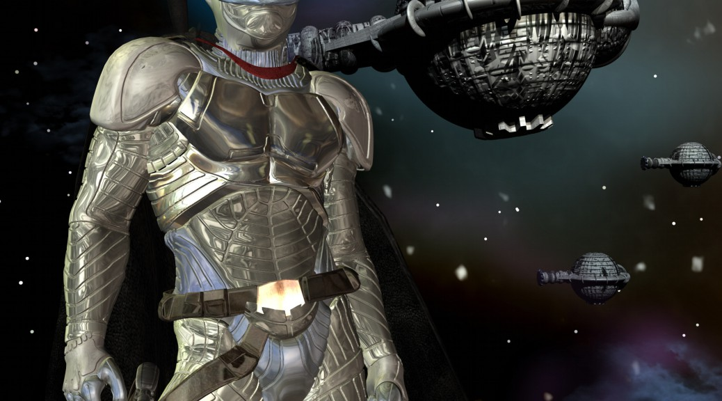 Der Silberne Ritter Cauthon Despair. gez. v. Gaby Hylla