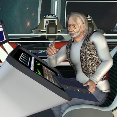 Jaaron Jargon, der galaktische Chronist. Gez. Gaby Hylla