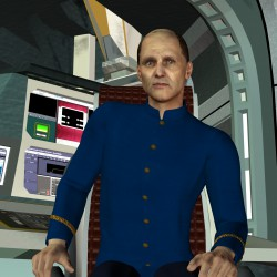 Xavier Jeamour, der Kommandant der IVANHOE. Gez. v. Gaby Hylla