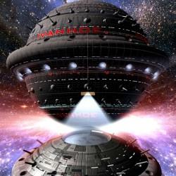Die IVANHOE, Raumschiff der Supernova-Klasse. (C) Raimund Peter