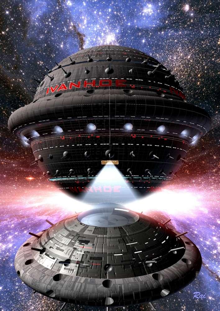 Die IVANHOE, Raumschiff der SUPERNOVA-Klasse. © Raimund Peter