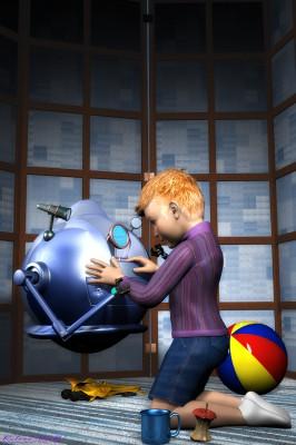 Robbie, der Serviceroboter für Kinder. (C) Roland Wolf