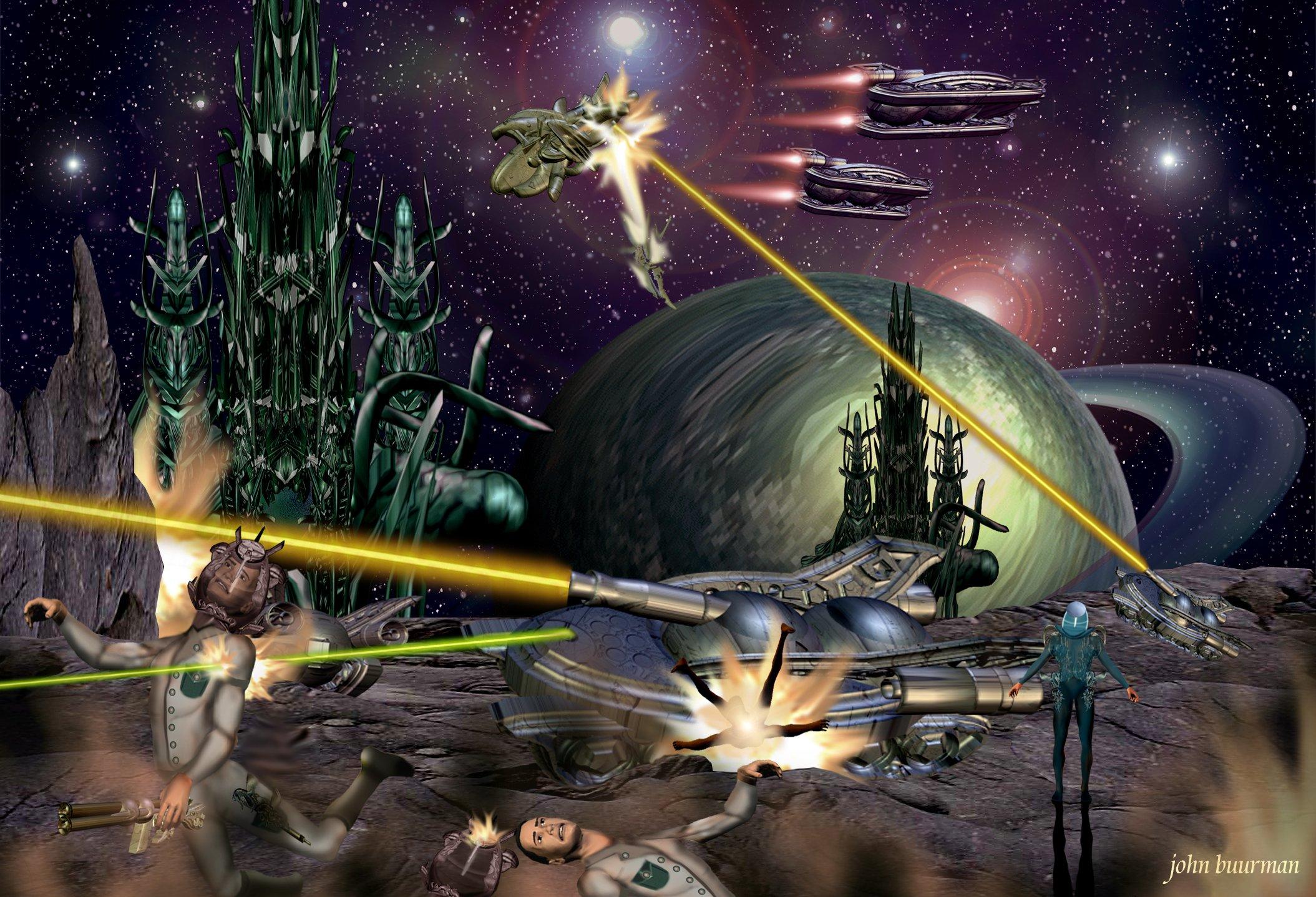 Der Krieg zieht über die somerische Welt Beschryr. (C) John Buurman