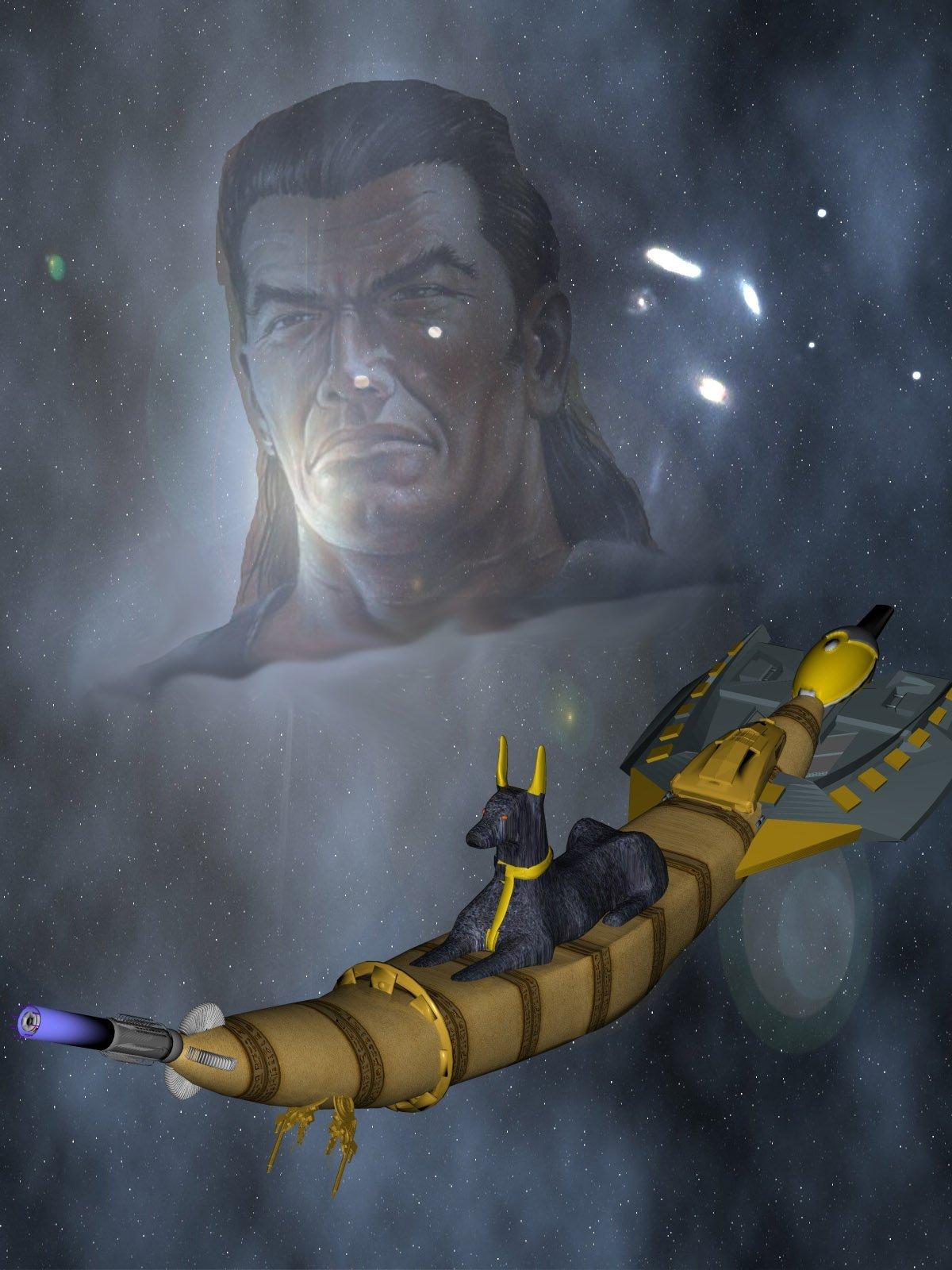 Osiris und sein Raumschiff HOR-ATEP © Lothar Bauer