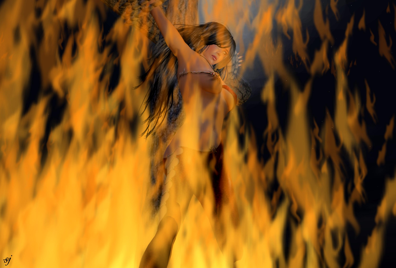 Hexenverbrennung auf Entrop-A