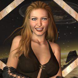 Die wunderschöne Terranerin Anya Guuze (C) Gaby Hylla
