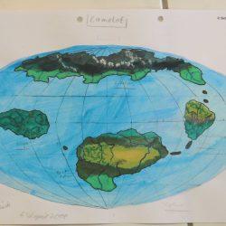 Landkarte des Planeten Phönix (Camelot) in der Milchstraße (C) 2016 Stefan Wepil