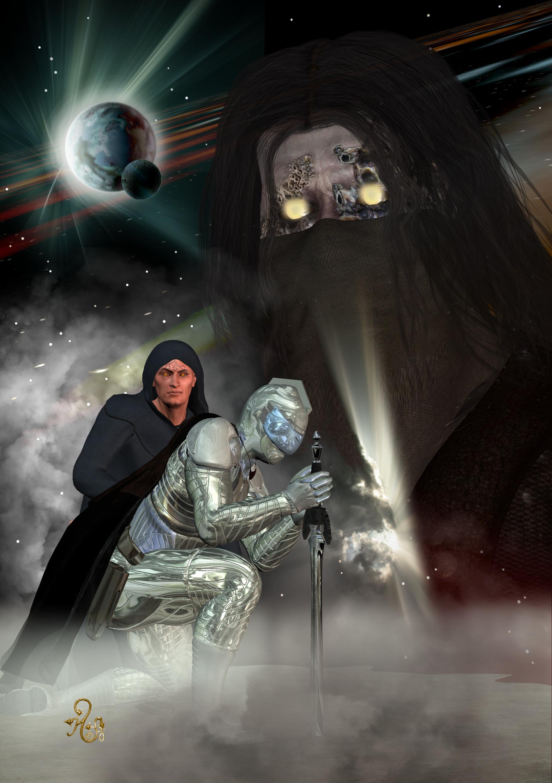 Die Söhne des Chaos Cau Thon und Cauthon Despair verneigen sich vor ihrem Meister, dem Kosmotarchen MODROR (C) Gaby Hylla