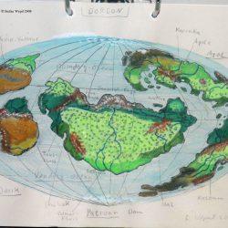 Landkarte des Planeten Dorgon in der Galaxis M 100. (C) Stefan Wepil