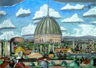 Der gewaltige Pons Domus - der Kaiserpalast von Dom auf Dorgon. (C) Stefan Wepil