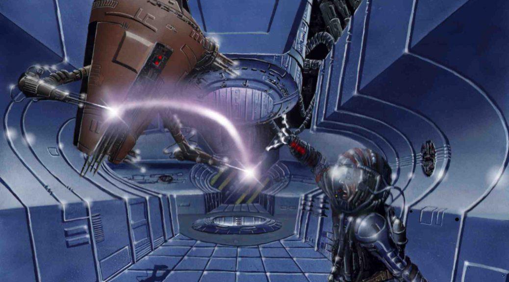Ivan Despair kämpft gegen einen Roboter. (C) Stefan Lechner