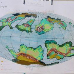 Landkarte des Planeten Ghanakon in der Galaxis Shagor. (C) 2016 - Stefan Wepil