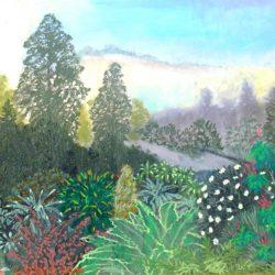Landschaftsbild des Planeten Jungle im Protektorat Harrisch in der Galaxis M 100 Dorgon. (C) 2016 Stefan Wepil