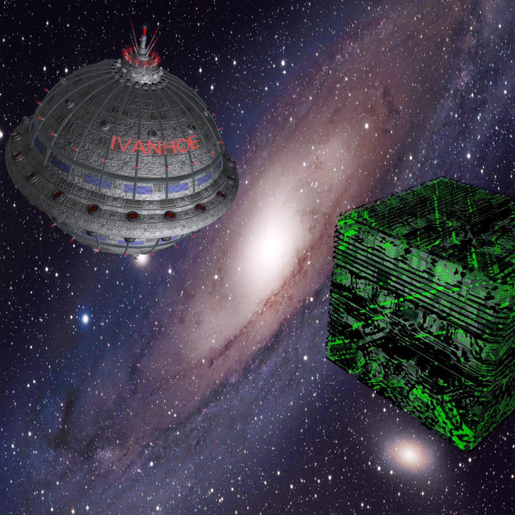 Die IVANHOE trifft auf ein Raumschiff (C) Jan Kauth