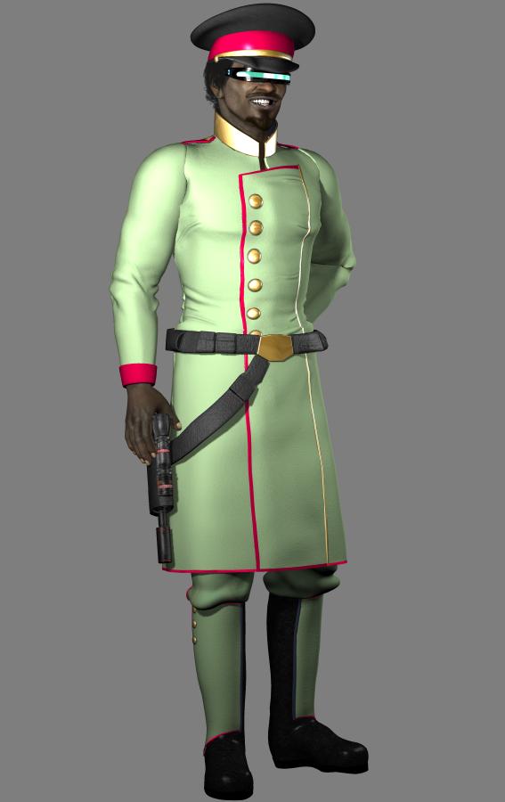 Oberst Ibrahim el Kerkum - Anführer von Mashratan (C) Roland Wolf