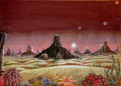 Die schroffe Landschaft der Wüstenwelt Masharatan. (C) Stefan Wepil
