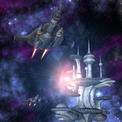 Die kosmokratische Raumstation NESJOR © Raimund Peter