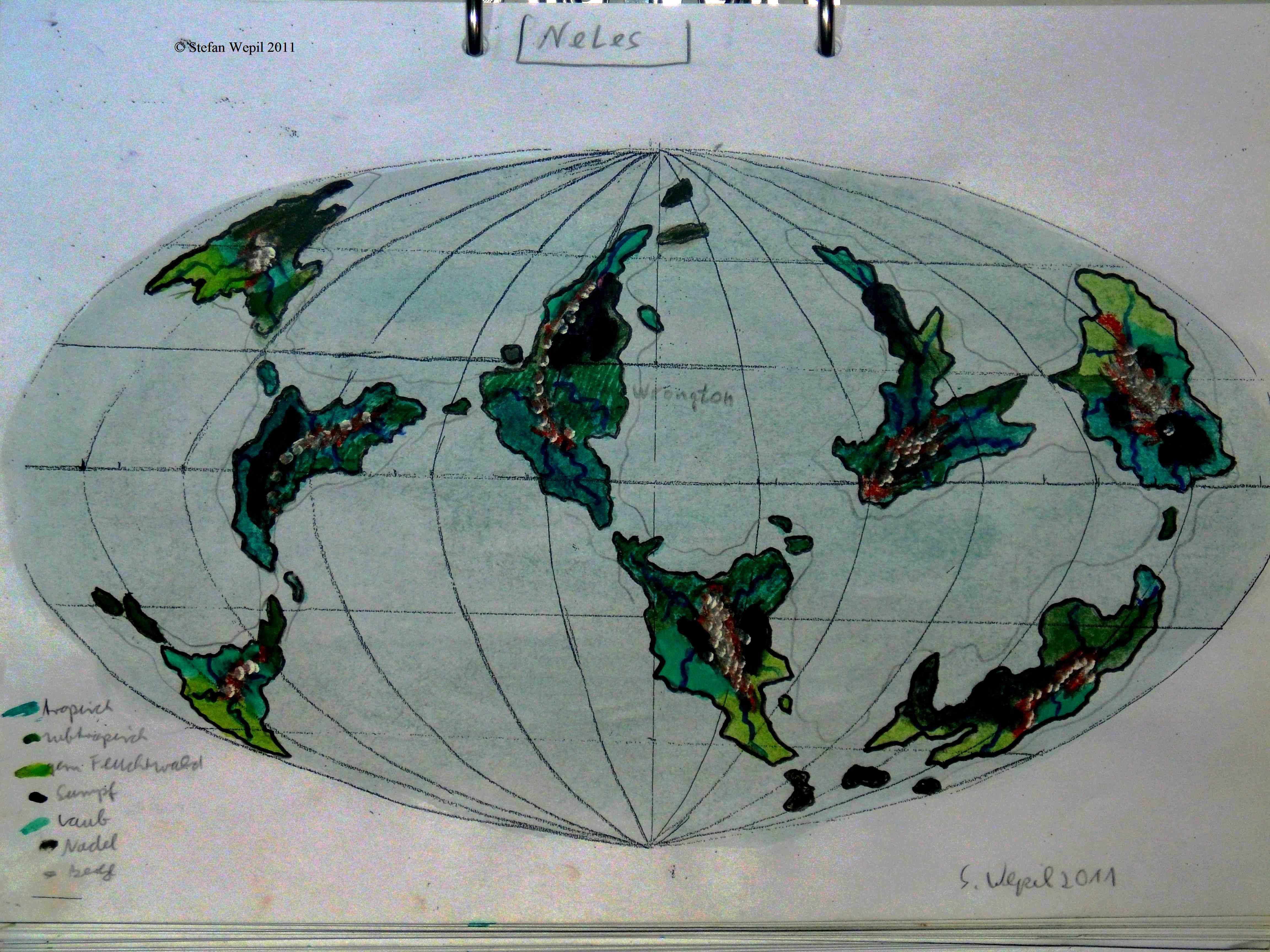 Planetenkarte von Neles in der Milchstraße (C) Stefan Wepil