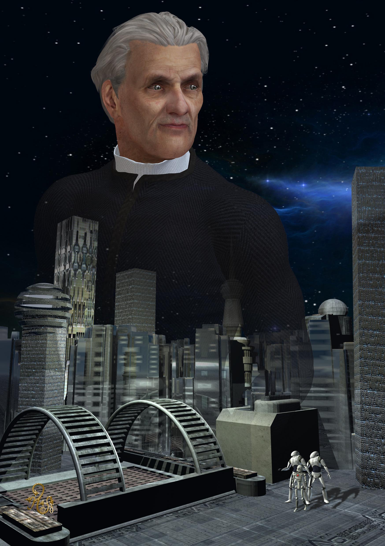 Werner Niesewitz und die Stadt Paxus. (C) Gaby Hylla