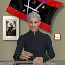 Der Chef der Cartwheel Intelligence Protective - dem Geheimdienst des Quarteriums - Werner Niesewitz (C) Gaby Hylla