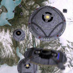 Raumschiffe der Liga Freier Terraner im Anflug. (C) Heiko Popp