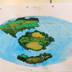 Landkarte des Planeten Paxus, der Zentralwelt in der Galaxis Cartwheel. (C) 2016 Stefan Wepil