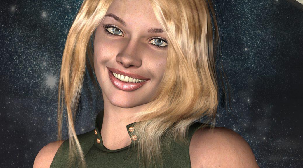 Die exentrische Buuralerin Pyla, eine Bewohnerin des Rideryons. (C) Gaby Hylla