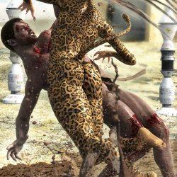 Sha-Hir-Ryar stürzt sich auf ihr Opfer (C) Roland Wolf