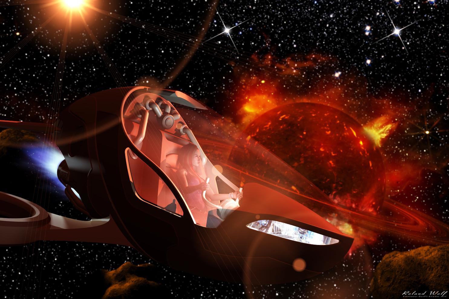 Flug durch das Weltall (C) Roland Wolf
