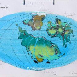 Landkarte des Planeten Saggittor in der Galaxis M 64 (C) 2016 Stefan Wepil