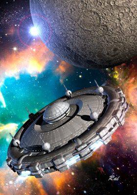 Das Flaggschiff der saggittonischen Raumflotte SAGRITON (C) Raimund Peter