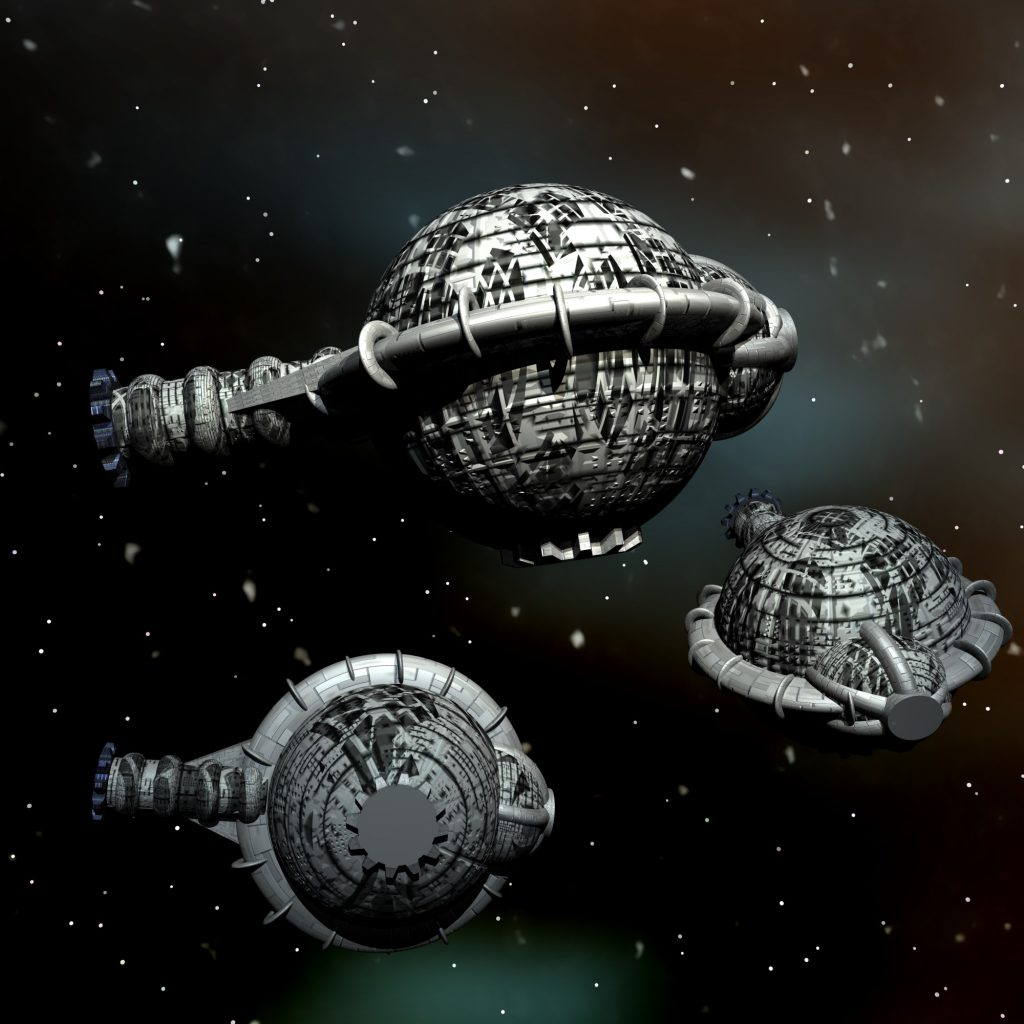 SUPREMO-Raumschiffe © Heiko Popp
