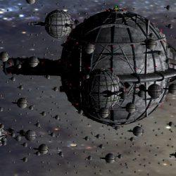 Die SUPREMO Raumschiffe des Quarteriums (C) Heiko Popp