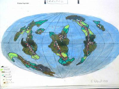 Zechon Weltkarte (C) Stefan Wepil
