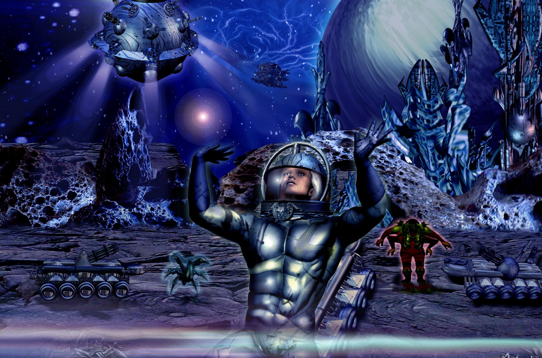 Atlan und Icho Tolot in der Galaxie Manjardon © John Buurman