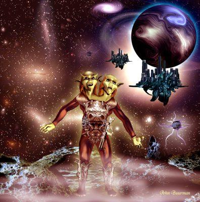 Roggle, der Vorjul im Kreuz der Galaxien (C) John Buurman