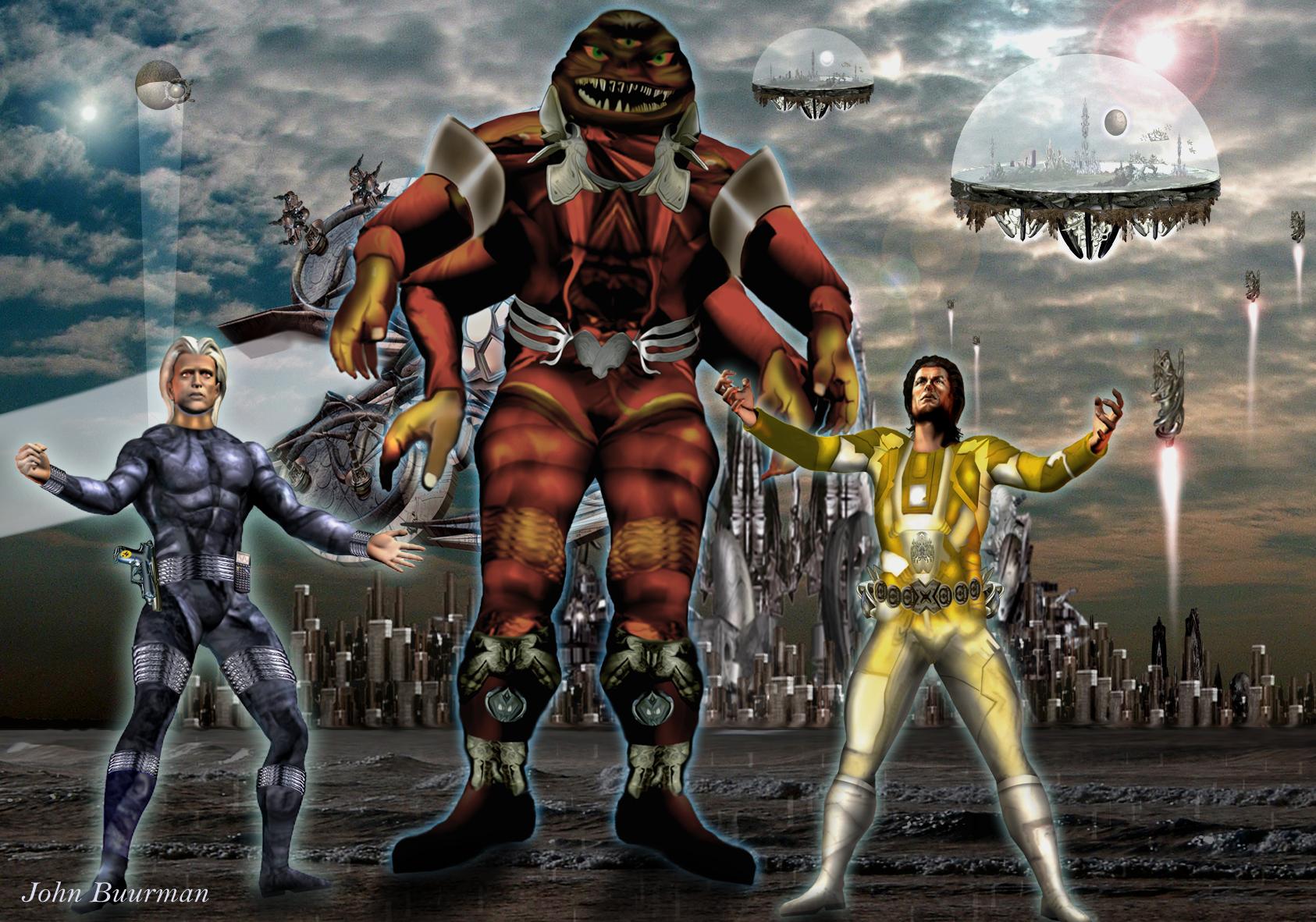 Atlan, Icho Tolot und Osiris von DORGON aufgenommen (C) John Buurman