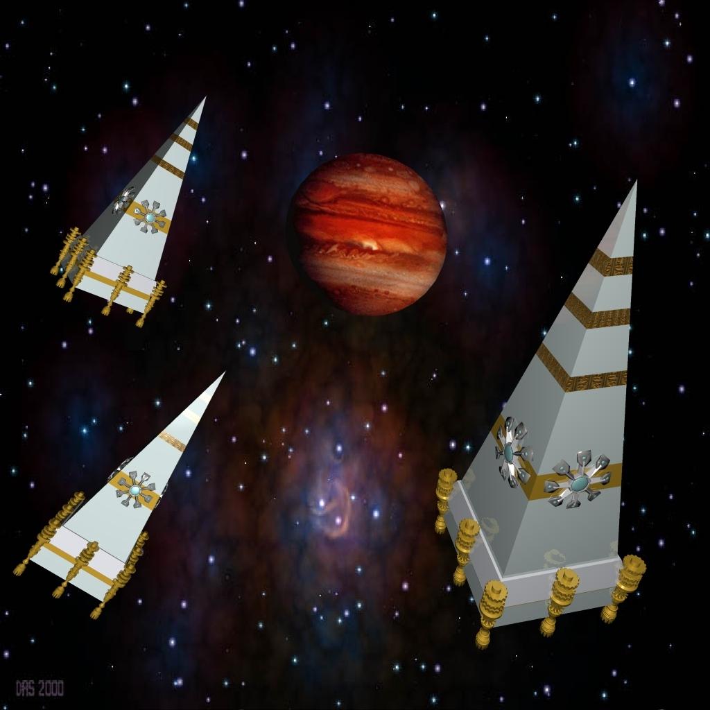 Die Pryamidenraumschiffe der Kemeten (C) Lothar Bauer