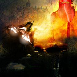 Der rote Tod Rodrom und das Schloss Proseprohs. Eine tödliche Hommage Rodroms an den terranischen Schriftsteller Edgar Allen Poe (C) Lothar Bauer / Gaby Hylla