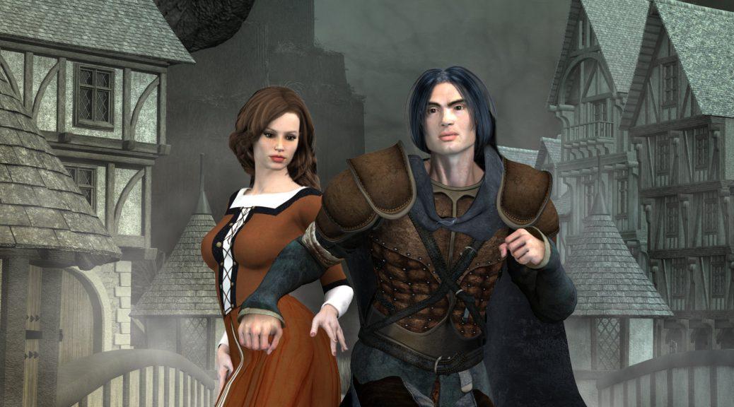 Aurec und Kathy Scolar als Nyrrak und Jila auf dem Planeten Entrison in Barym. (C) Gaby Hylla