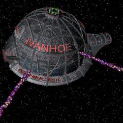 Die IVANHOE II feuert. (C) Jan Kauth