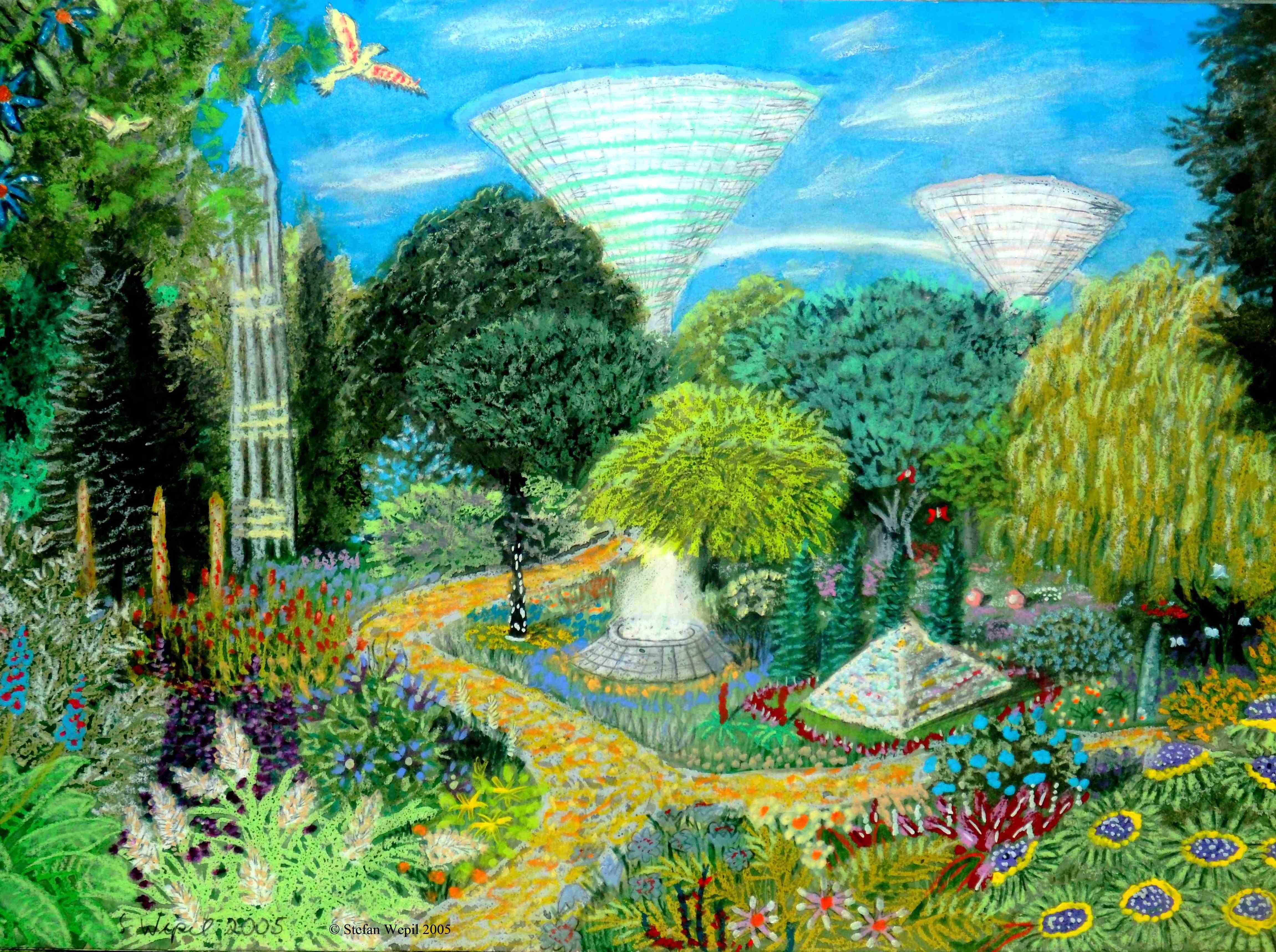Gärten der arkonidischen Welt Bostich in Cartwheel. (C) Stefan Wepil