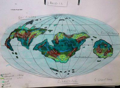 Landkarte des Planeten Bostich in Cartwheel (C) Stefan Wepil