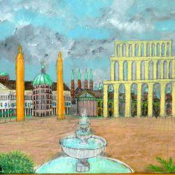Der Decrusiansplatz in Dom auf dem Planeten Dorgon in der Galaxie M100 (C) Stefan Wepil