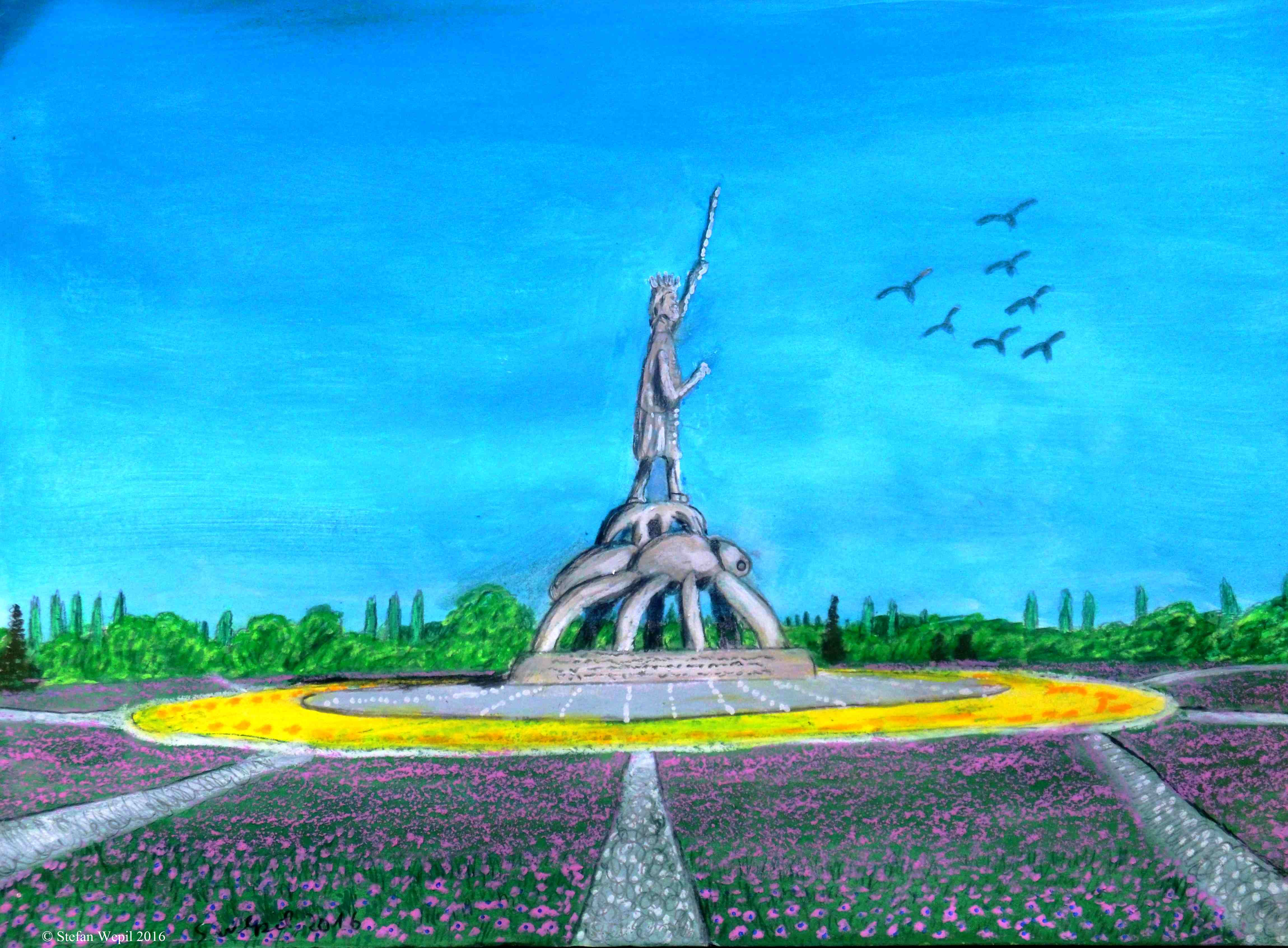 Ein Heldendenkmal in Dom auf dem Planeten Dorgon (C) Stefan Wepil