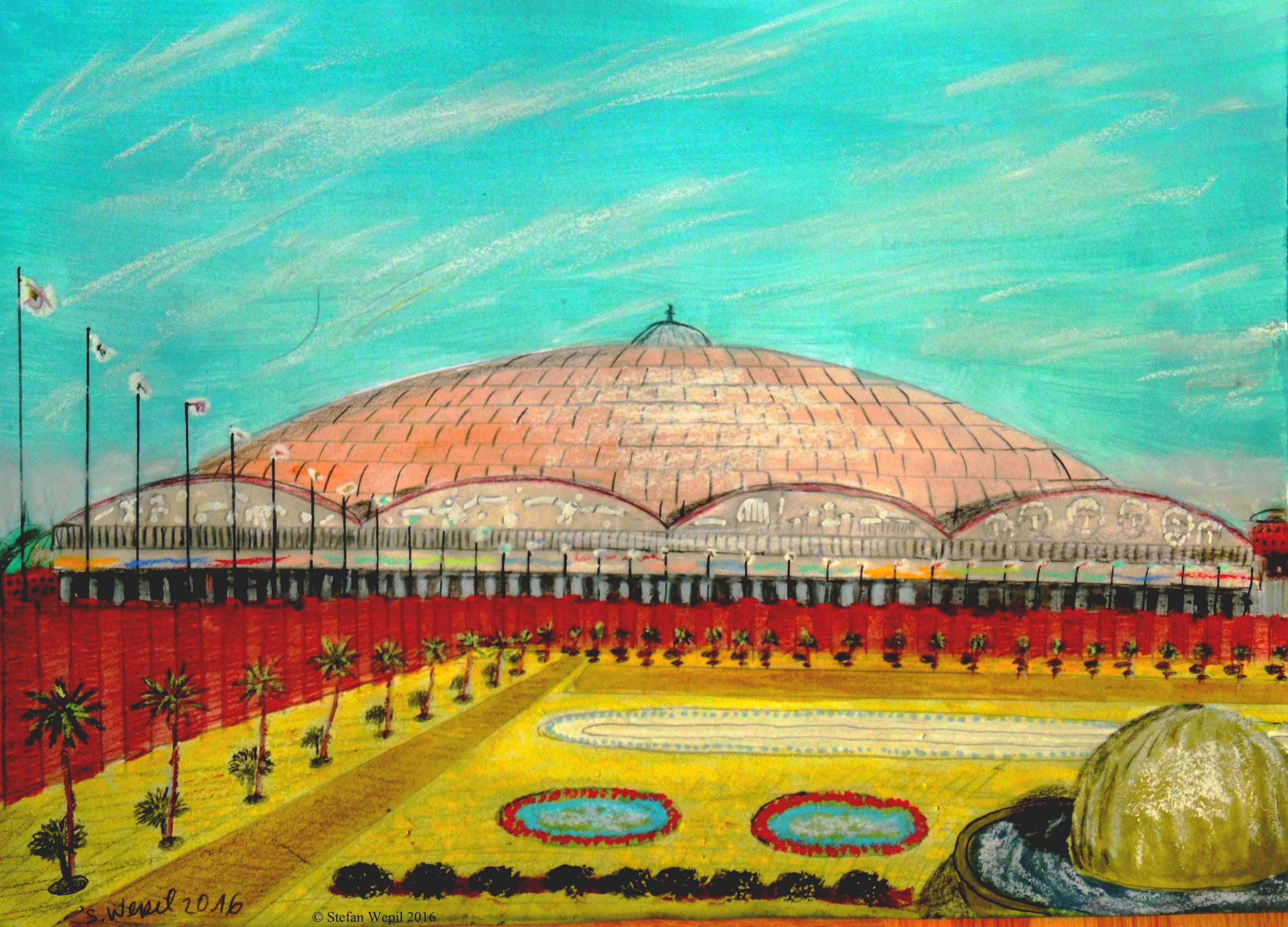 Jusilus-Platz mit der Jusilus-Mall im Zentraum von Dom auf dem Planeten Dorgon (C) Stefan Wepil