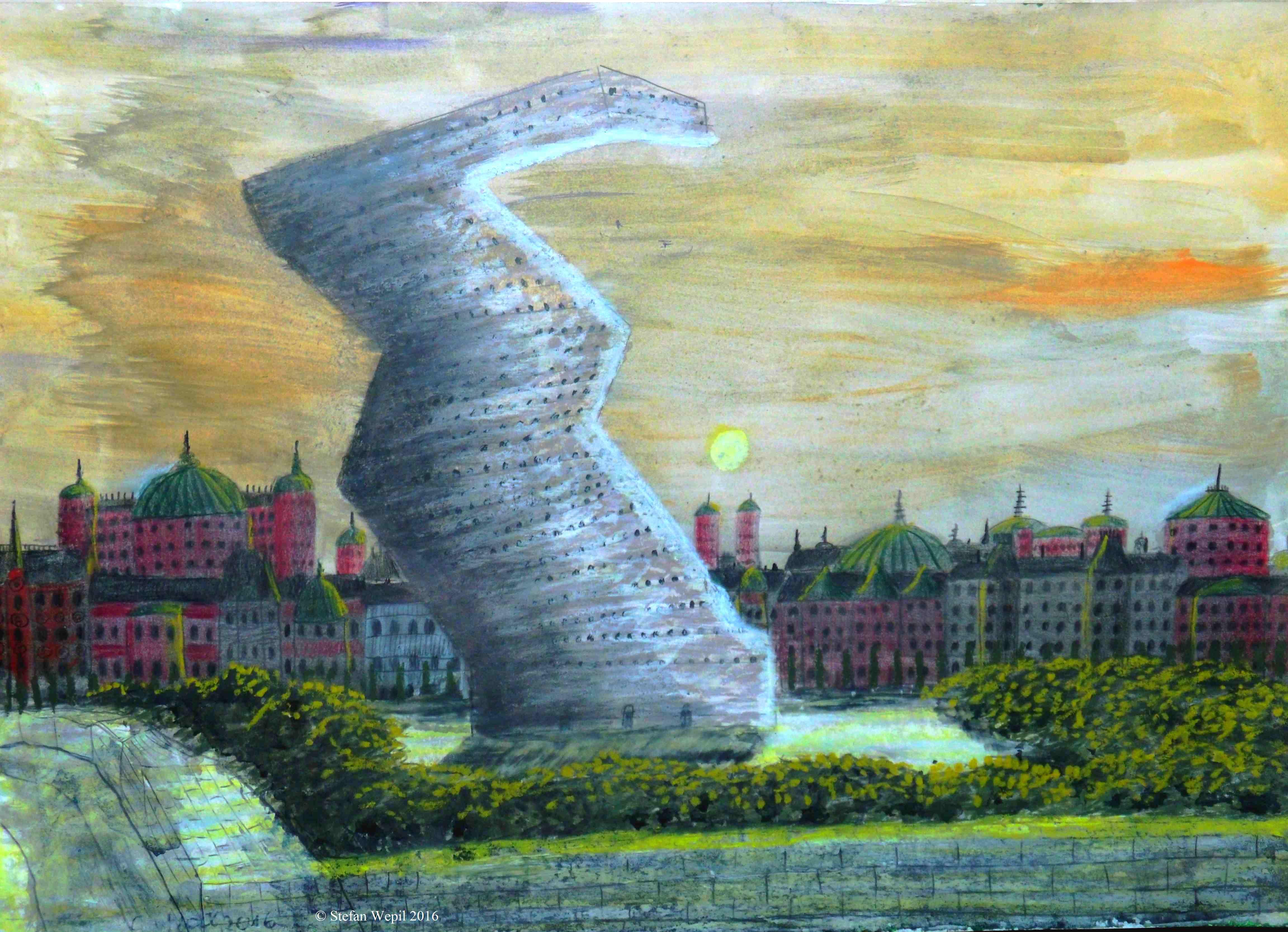 Der unmögliche Turm von Dom auf dem Planeten Dorgon (C) Stefan Wepil