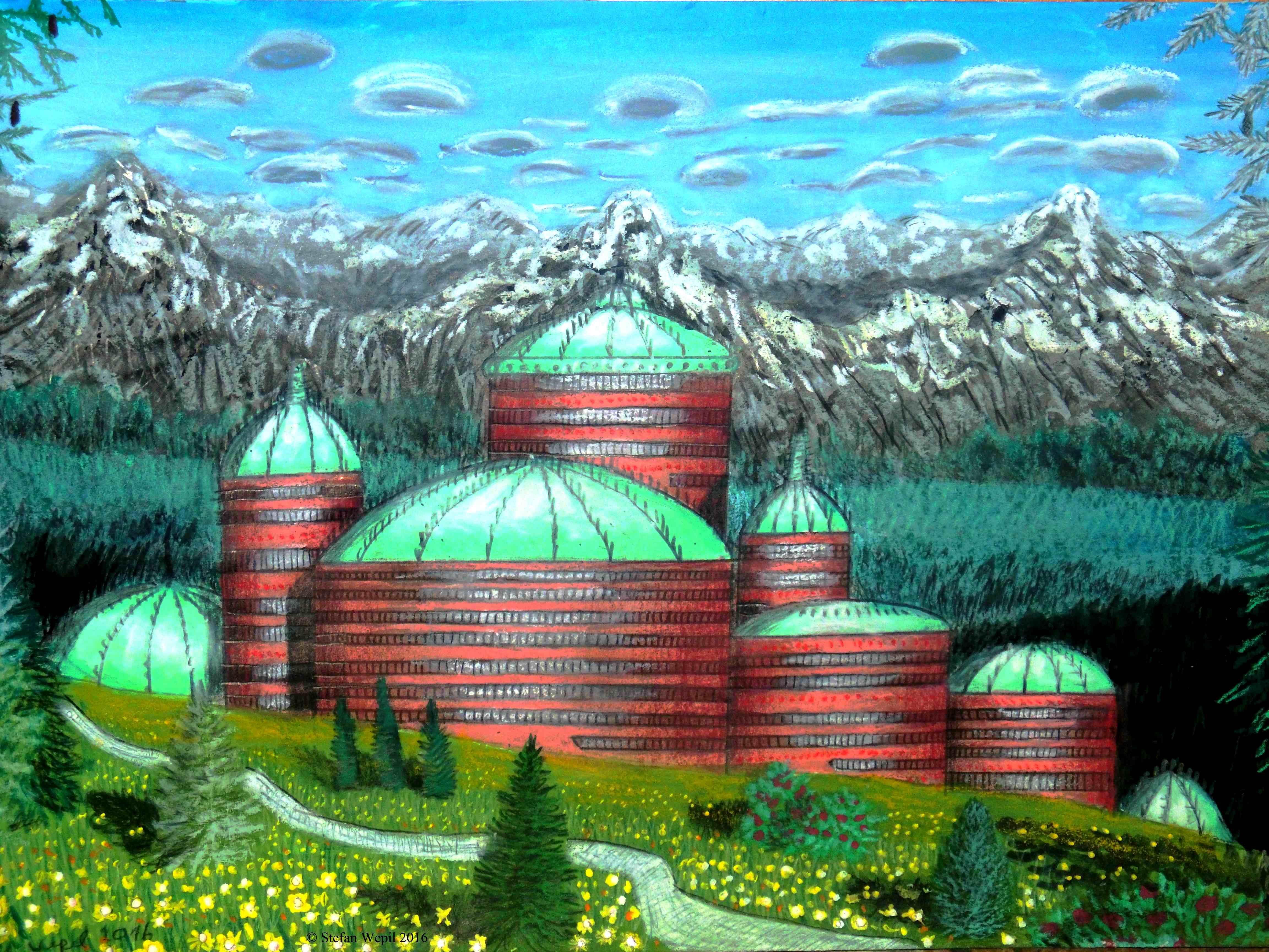 Da Sulvitalon in Dom, der Hauptstadt des Planeten Dorgon, der Zentralwelt der Galaxis M 100 - Dorgon (C) Stefan Wepil