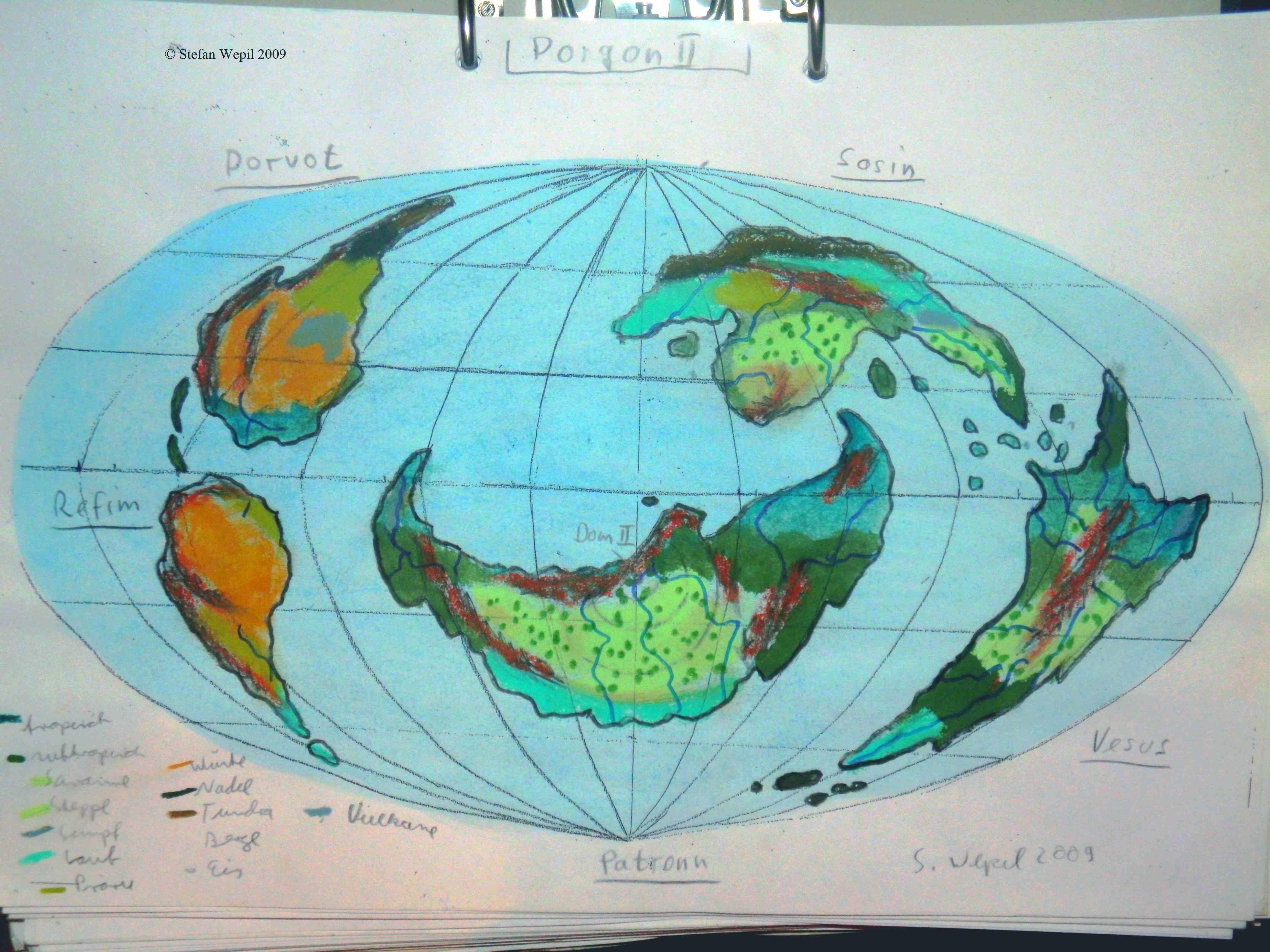 Planetenkarte von Dorgon II in Cartwheel (C) Stefan Wepil